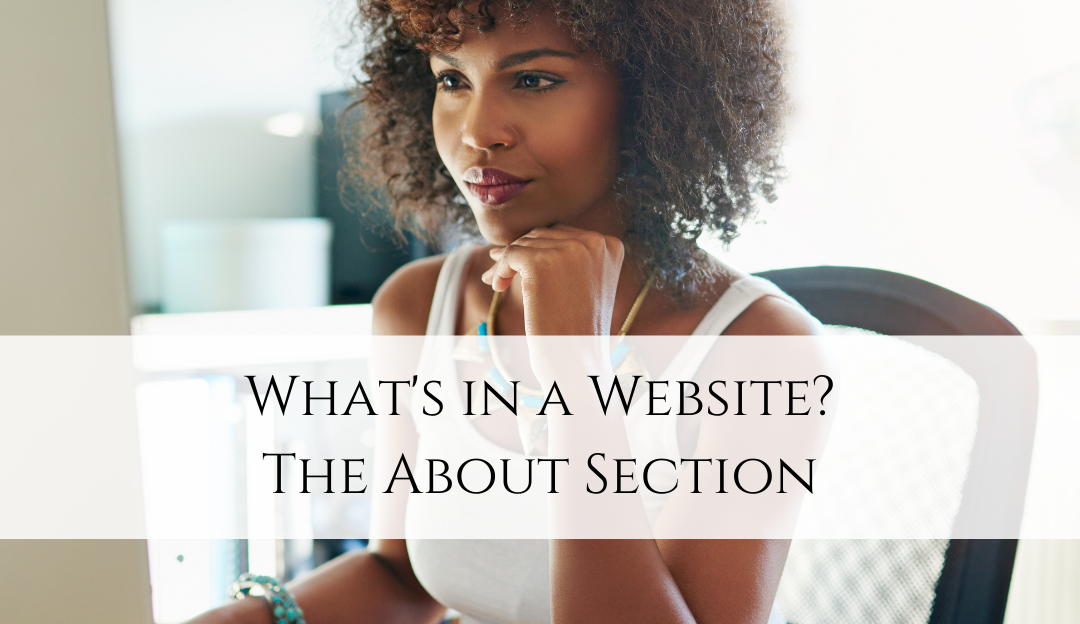 The About Section of a Website