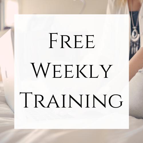 Free Weekly Training